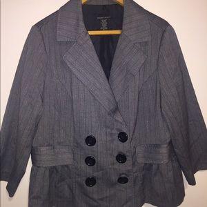 Jackets & Blazers - Great with black stripe blazer